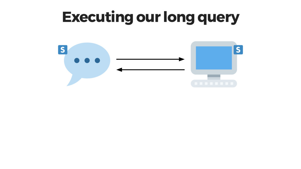 Executing our long query