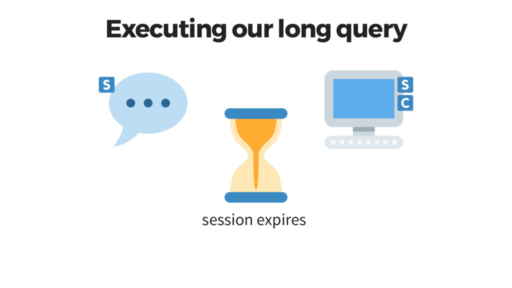 Executing our long query session expires