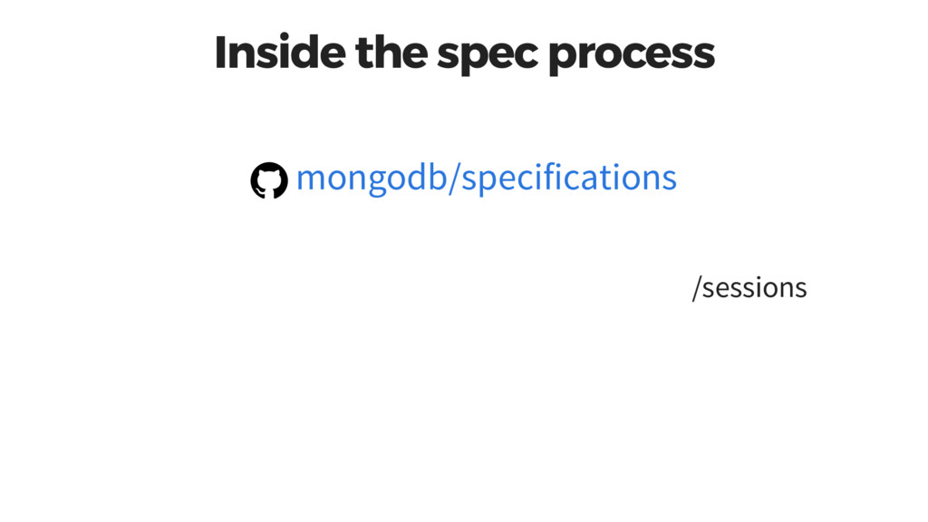 Inside the spec process /sessions mongodb/speci...