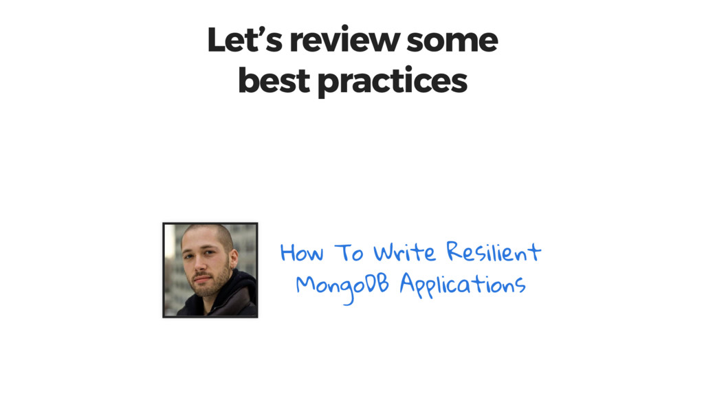 Let's review some best practices How To Write R...