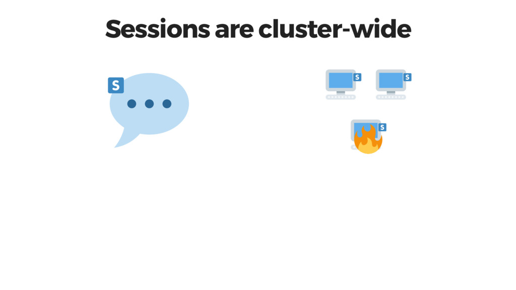 Sessions are cluster-wide