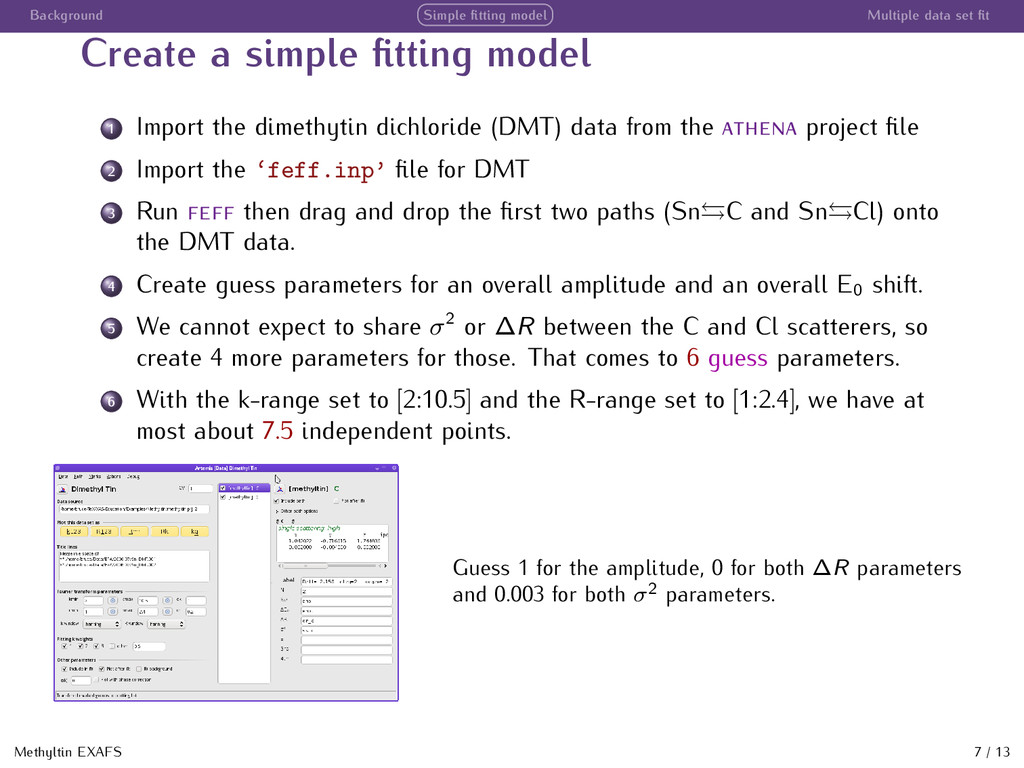 Background Simple fitting model Multiple data se...