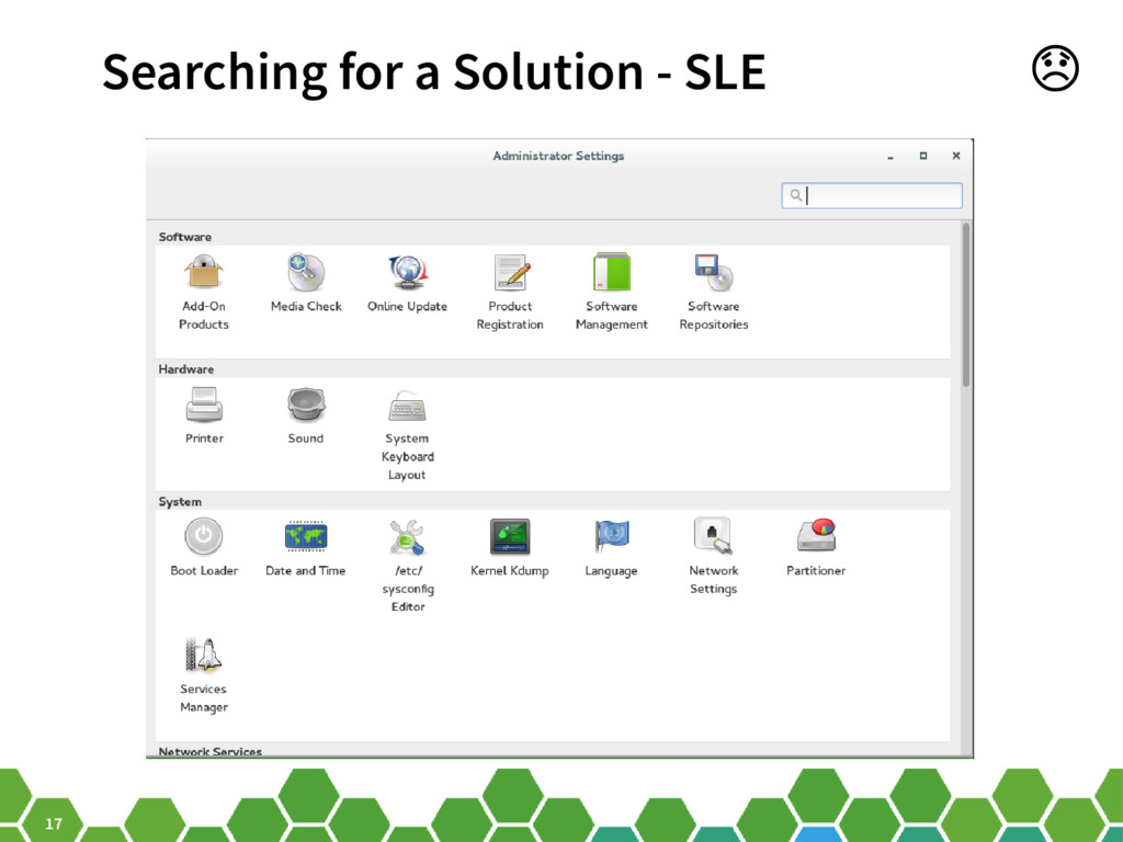 17 Searching for a Solution - SLE