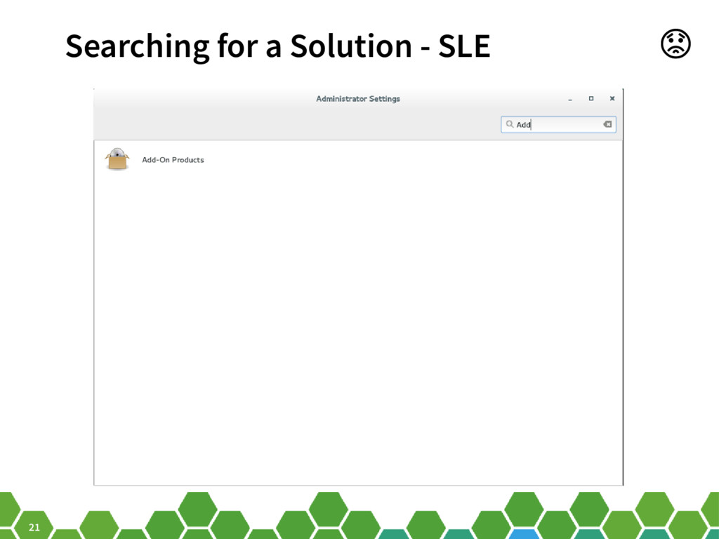 21 Searching for a Solution - SLE