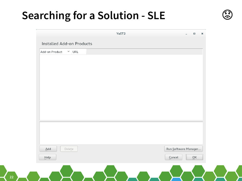 22 Searching for a Solution - SLE