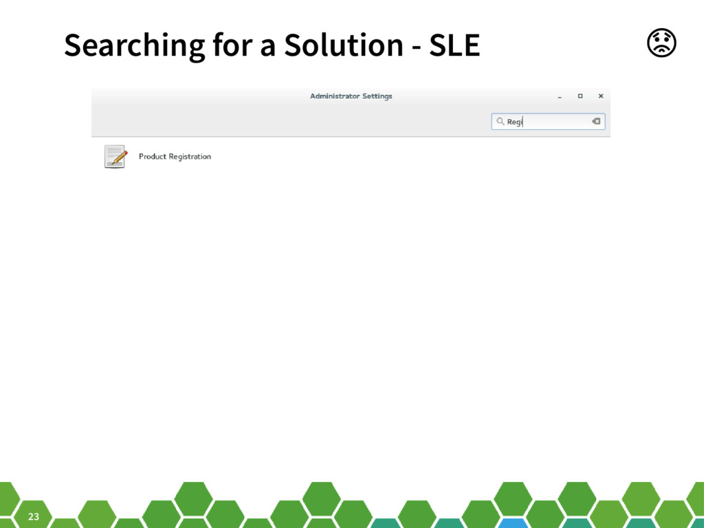 23 Searching for a Solution - SLE