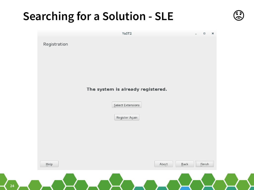 24 Searching for a Solution - SLE