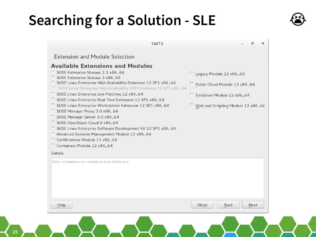 25 Searching for a Solution - SLE