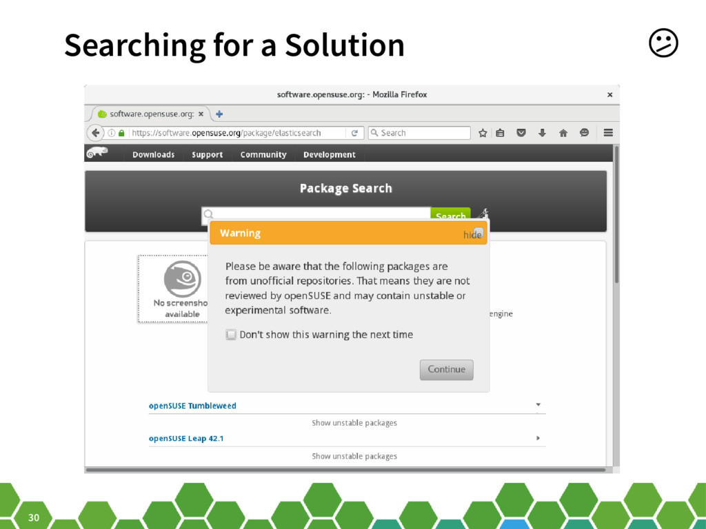 30 Searching for a Solution