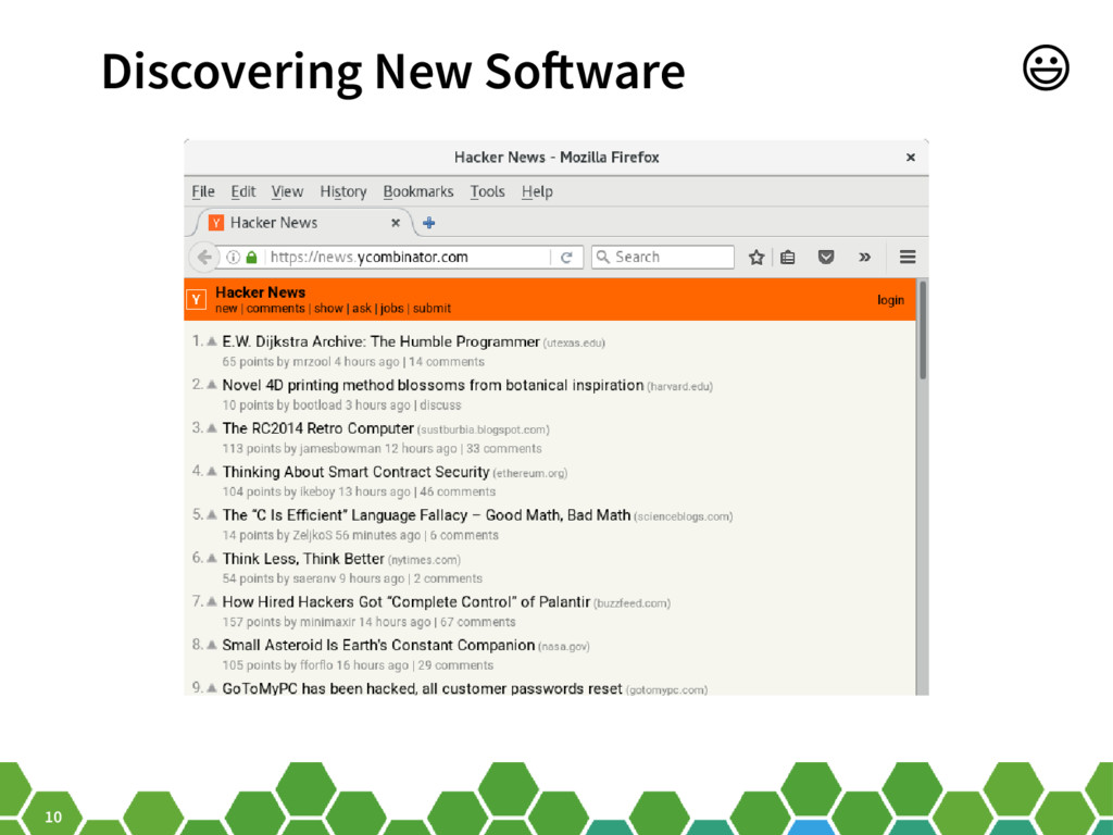 10 Discovering New Software