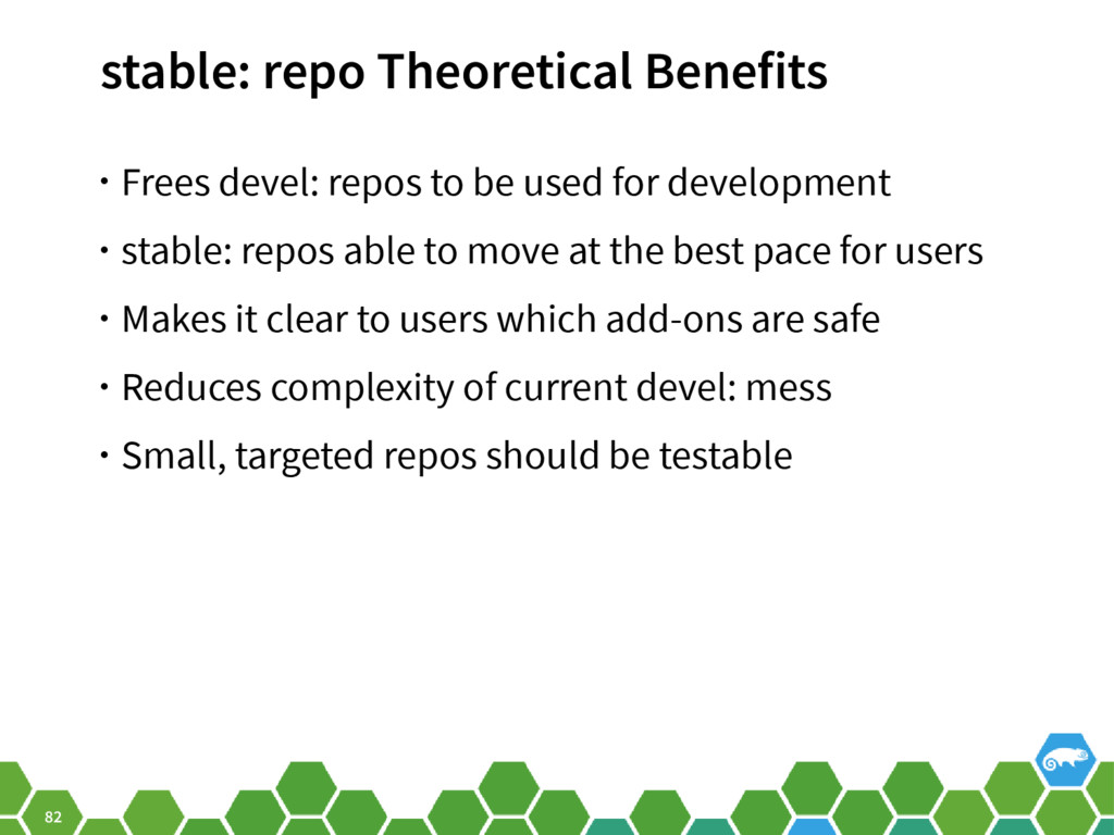 82 stable: repo Theoretical Benefits • Frees de...
