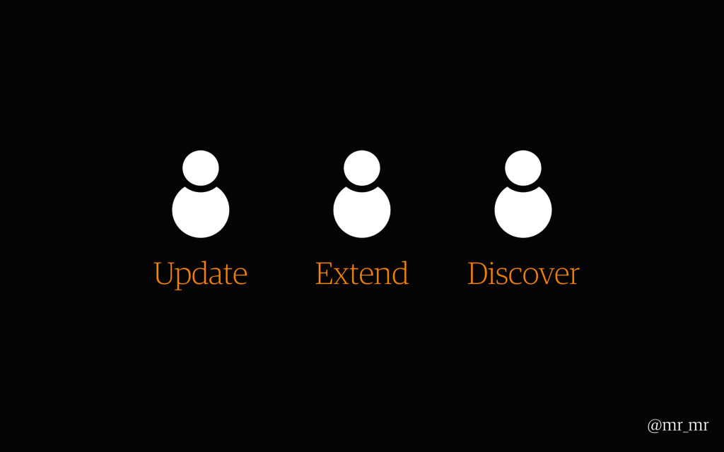@mr_mr Update Extend Discover