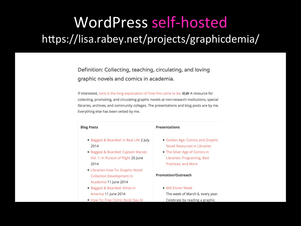WordPress self-‐hosted   hAps://lisa....