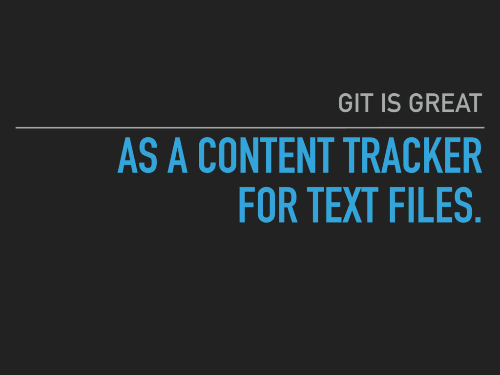 AS A CONTENT TRACKER