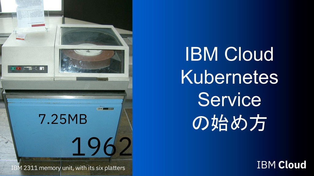 IBM Cloud Kubernetes Service  IBM 2311 memo...