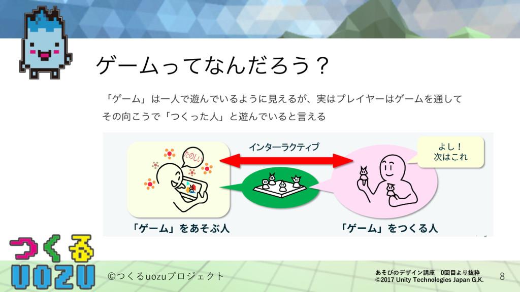 8 ήʔϜͬͯͳΜͩΖ͏ʁ 11 「ゲーム」は一人で遊んでいるように見えますが、プレイヤーはゲ...