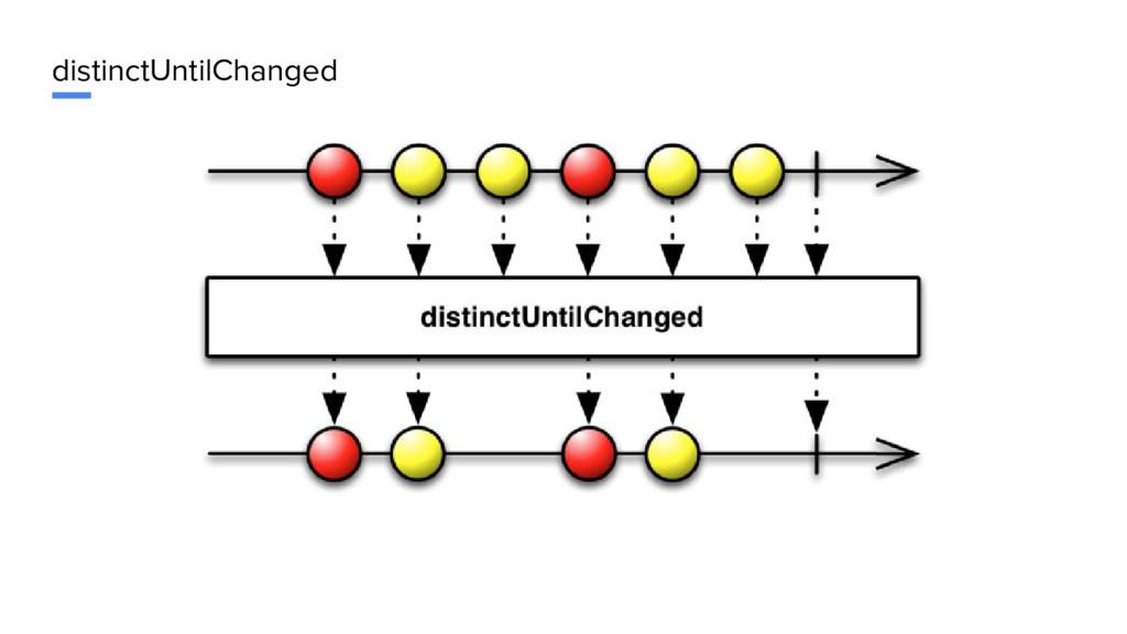 distinctUntilChanged