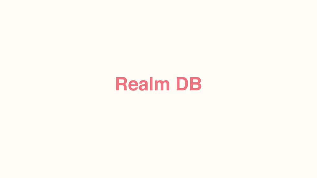 Realm DB