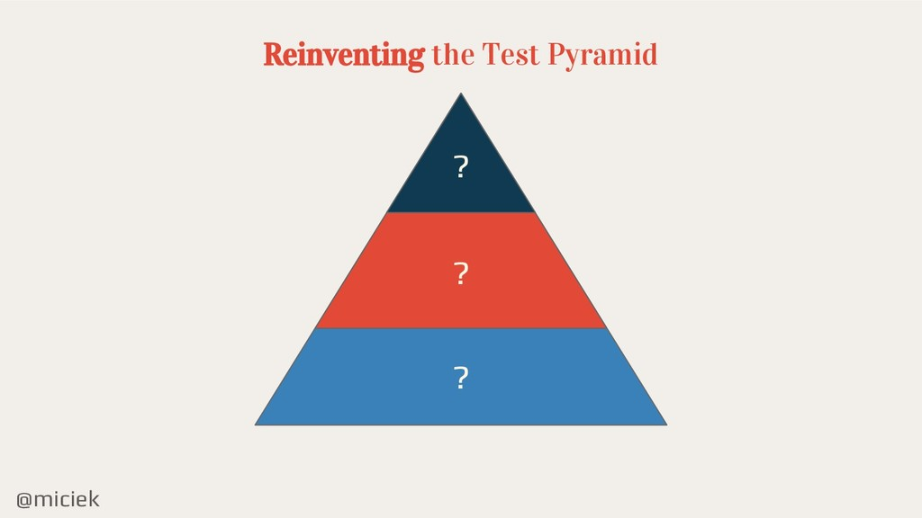 @miciek Reinventing the Test Pyramid ? ? ?