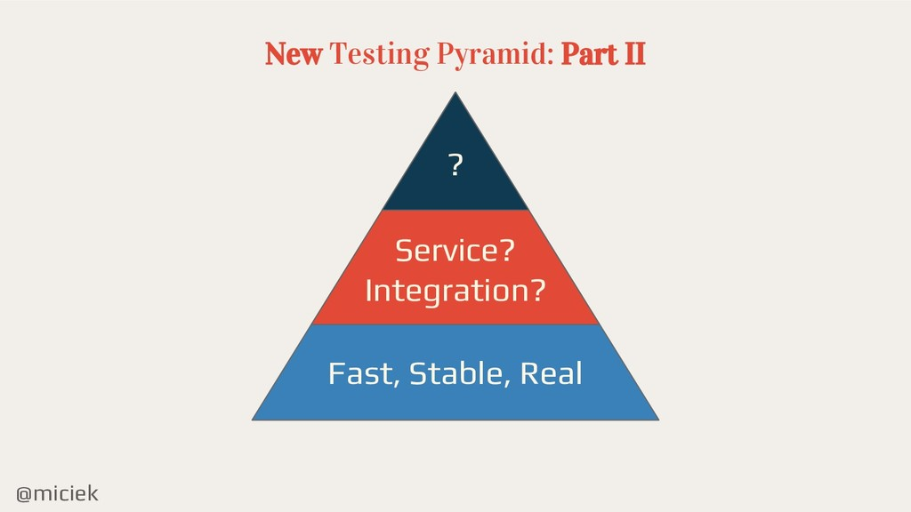 @miciek New Testing Pyramid: Part II ? Service?...