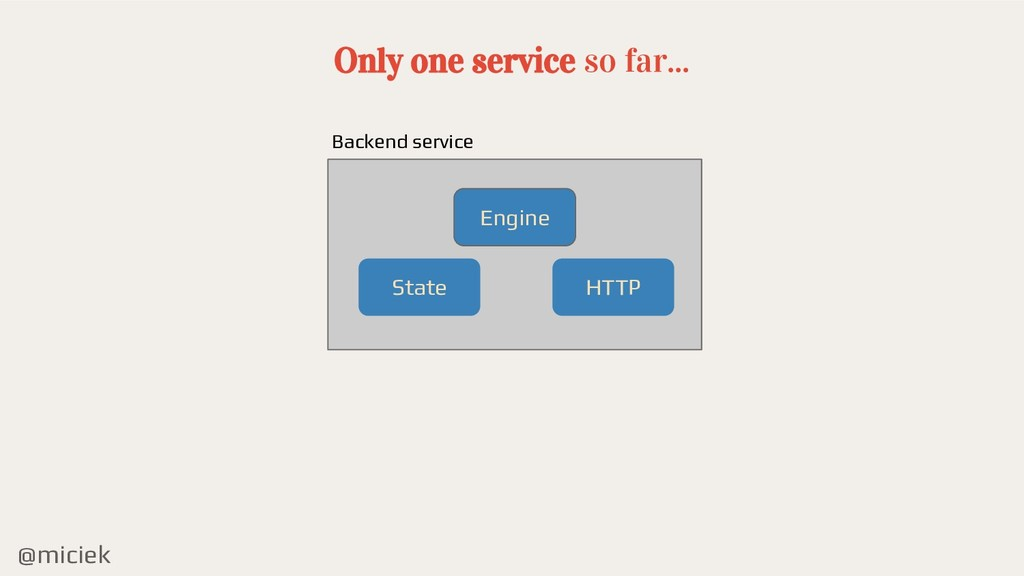 @miciek Only one service so far... State Engine...