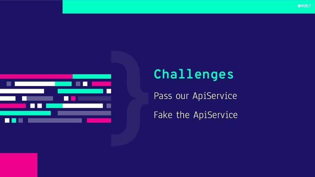 Pass our ApiService Fake the ApiService Challen...