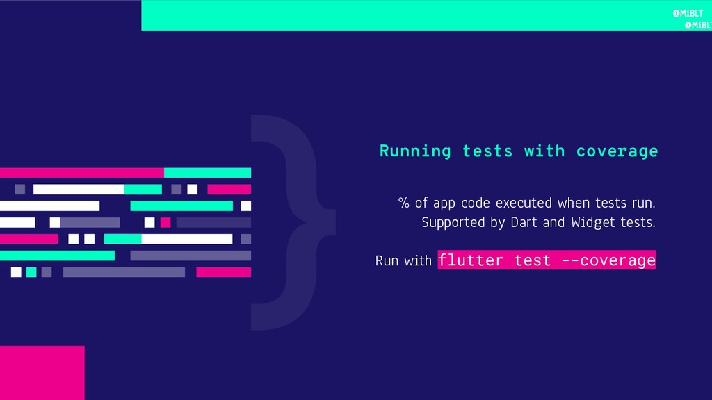 % of app code executed when tests run. Supporte...