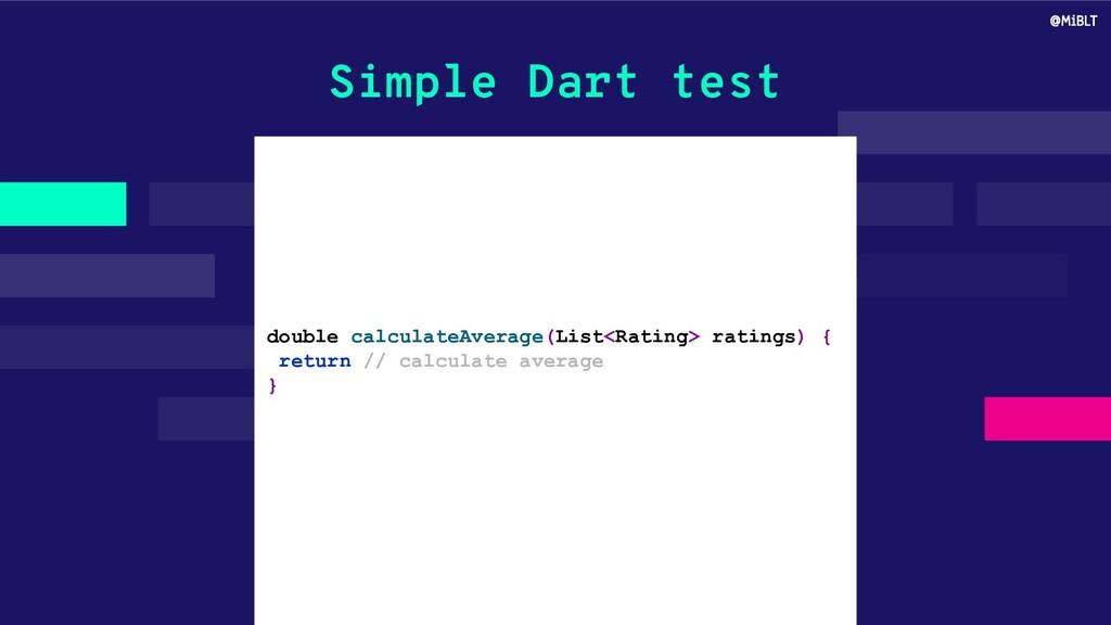 Simple Dart test double calculateAverage(List<R...
