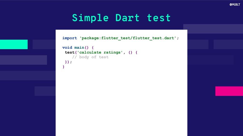 Simple Dart test import 'package:flutter_test/f...