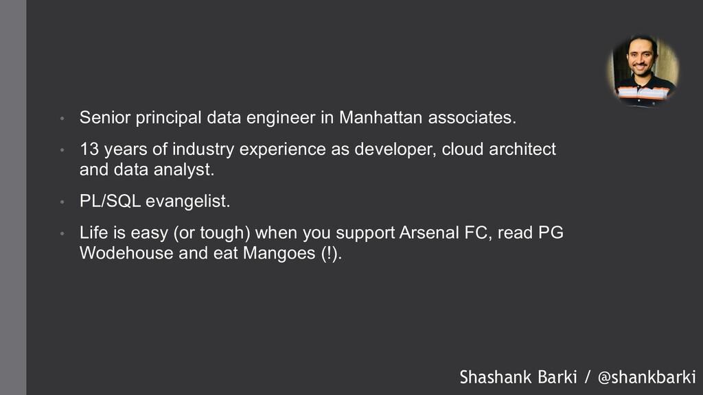 • Senior principal data engineer in Manhattan a...