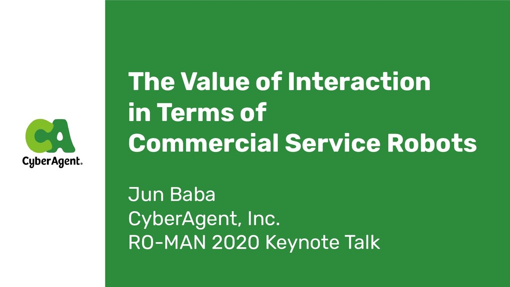 The Value of Interaction in Terms of Commercial...