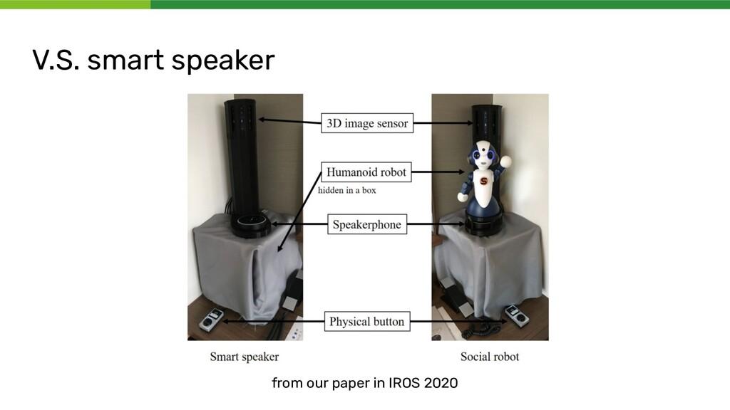 V.S. smart speaker from our paper in IROS 2020