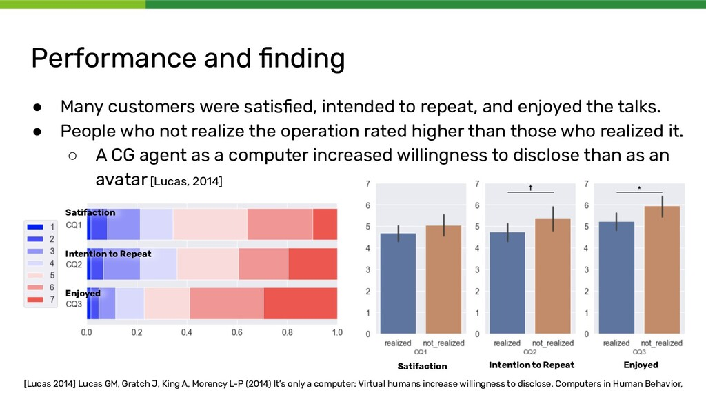 Performance and finding ● Many customers were sa...