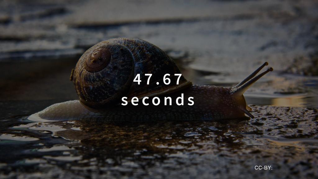 4 7 . 6 7  s e co n d s CC-BY: