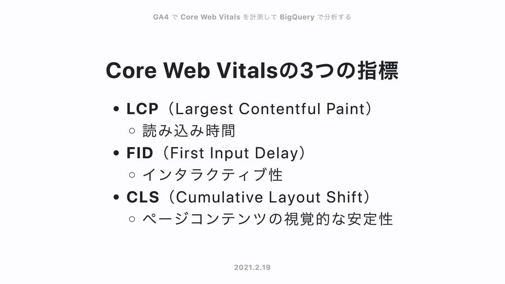 Core Web Vitalsの3つの指標 LCP(Largest Contentful Pa...