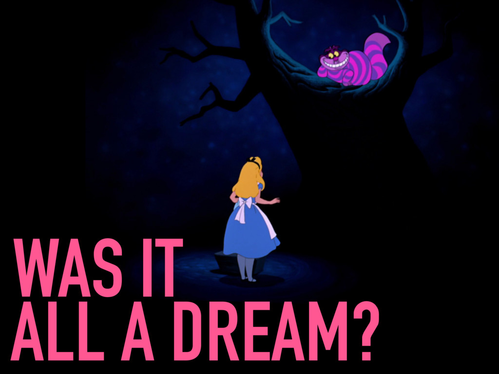 WAS IT ALL A DREAM?