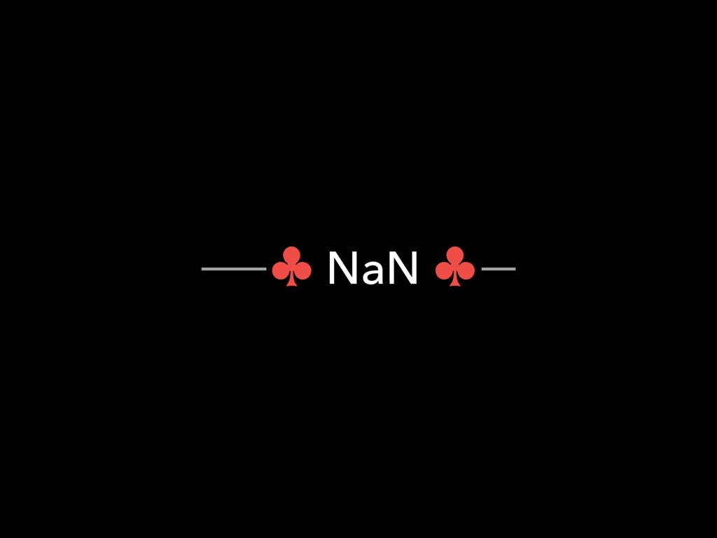 ― NaN ―