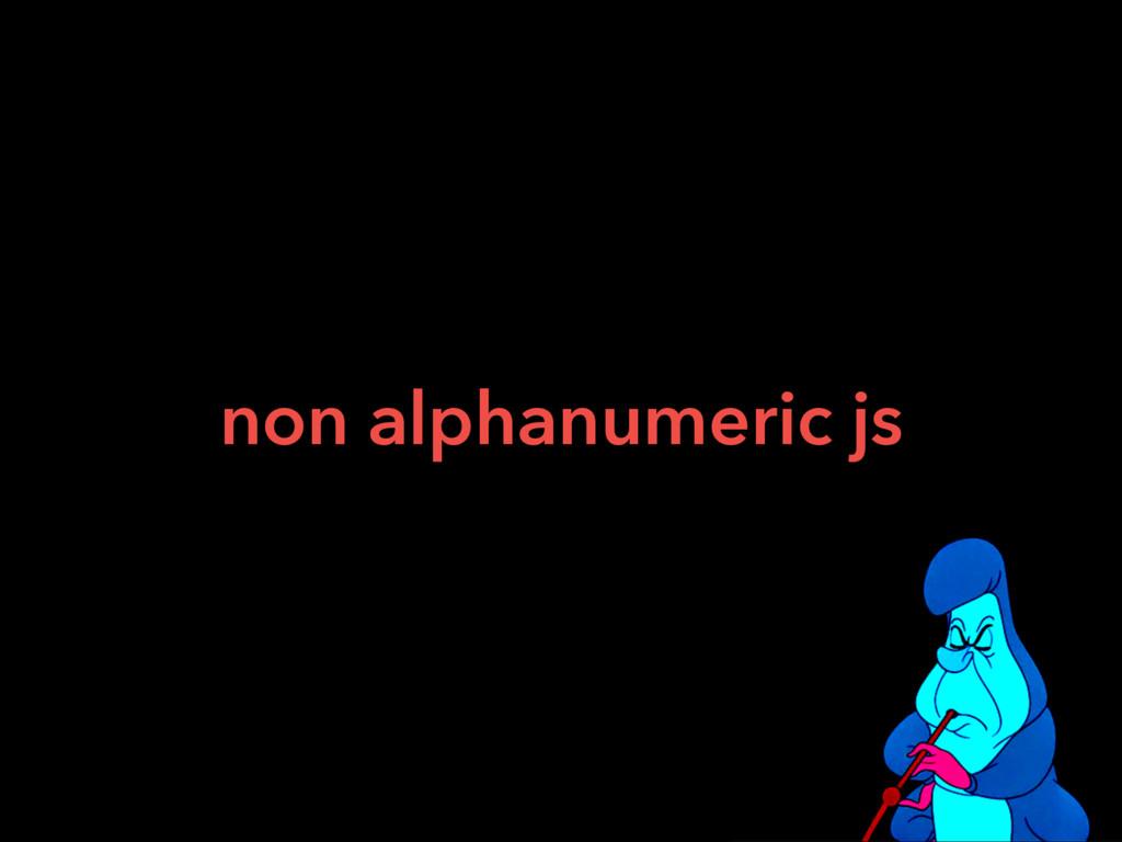 non alphanumeric js