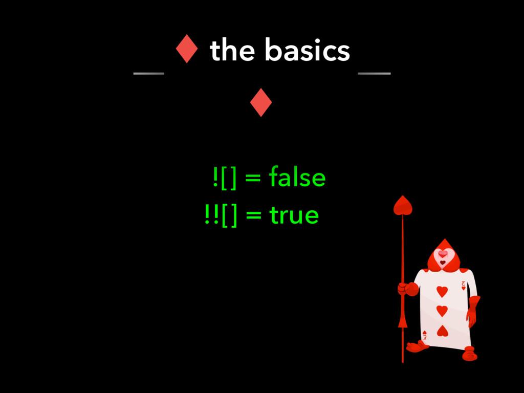 ![] = false !![] = true ‖ the basics ‖