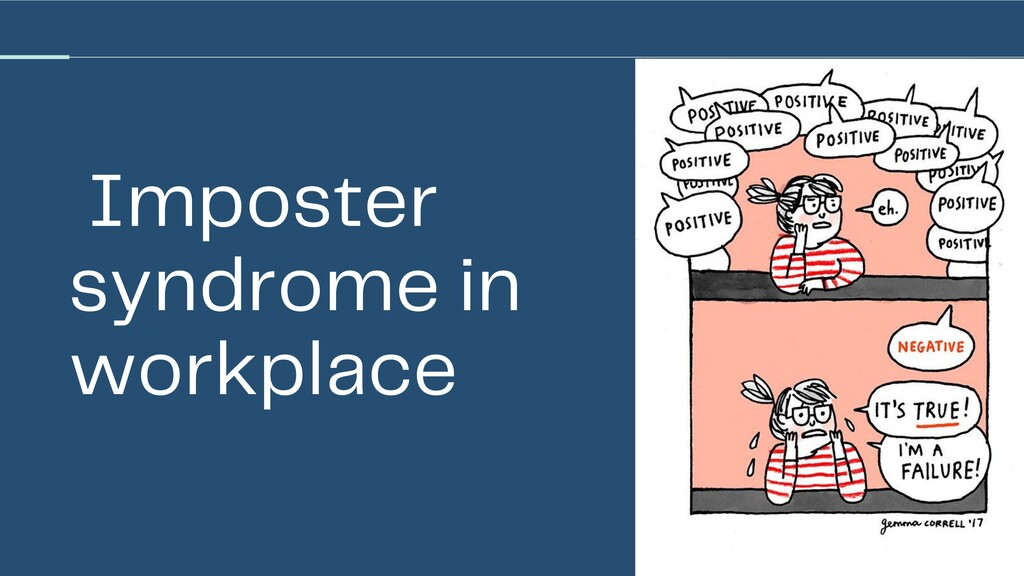 Imposter syndrome in workplace