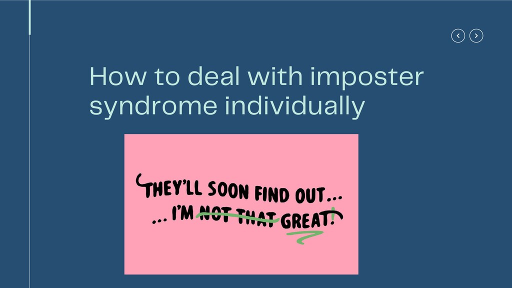 How to deal with imposter syndrome individually