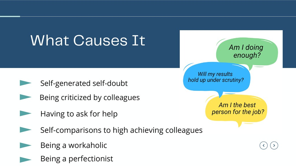 What Causes It Self-generated self-doubt Being ...