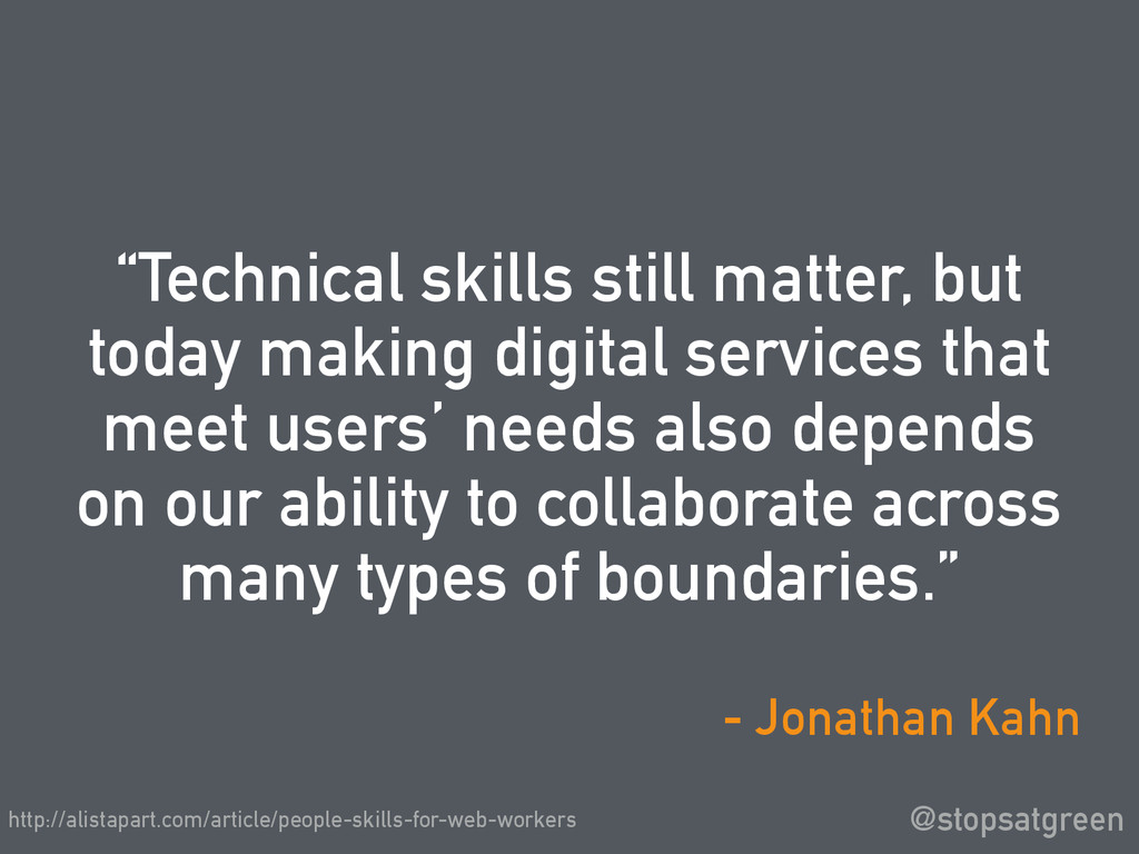 """Technical skills still matter, but today makin..."