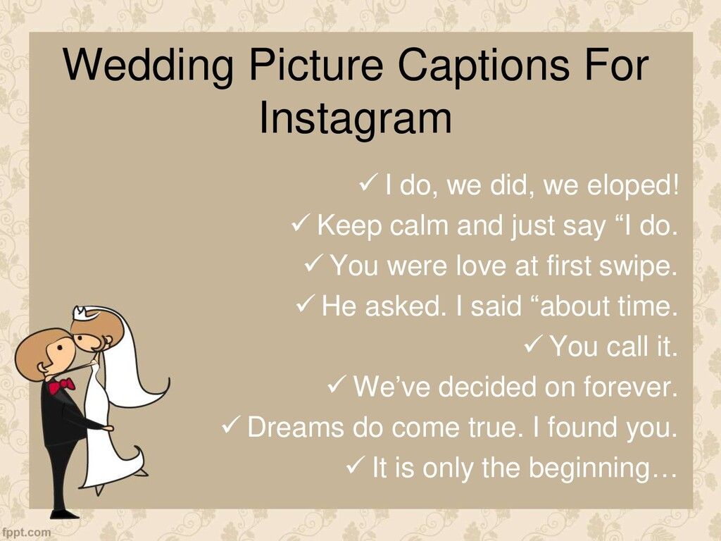 Wedding Picture Captions For Instagram  I do, ...