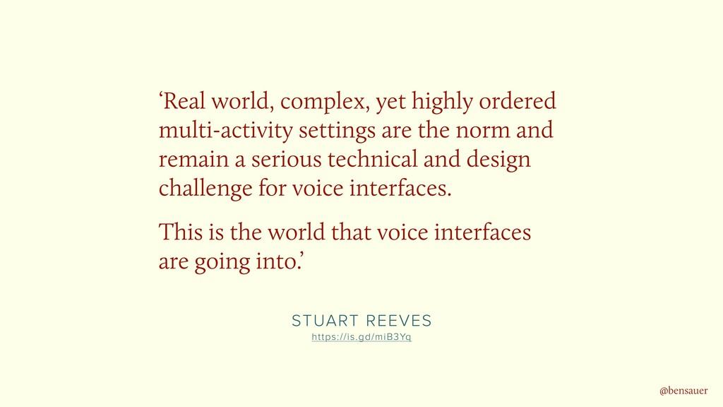 STUART REEVES https://is.gd/miB3Yq 'Real world...