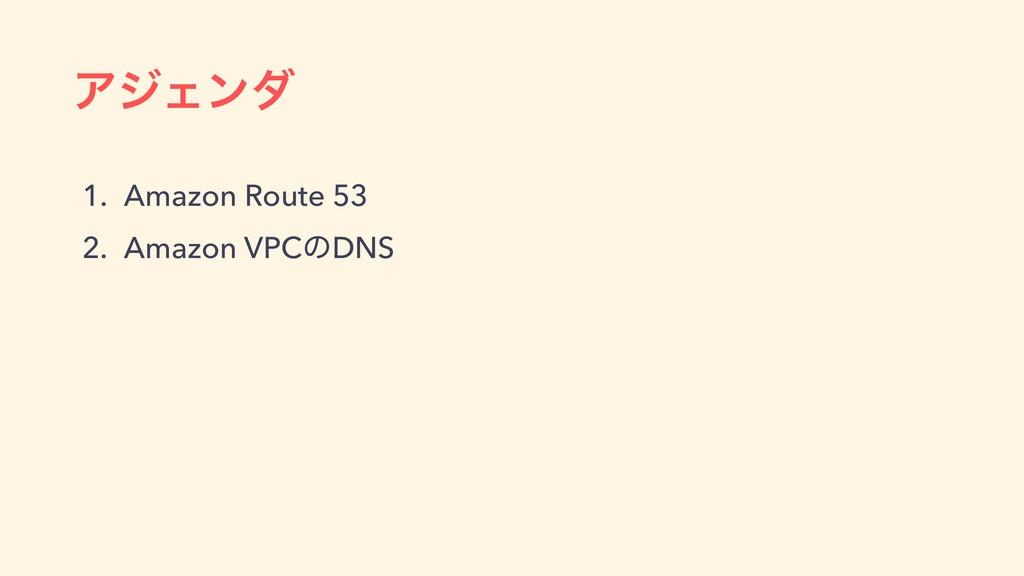 ΞδΣϯμ 1. Amazon Route 53 2. Amazon VPCͷDNS
