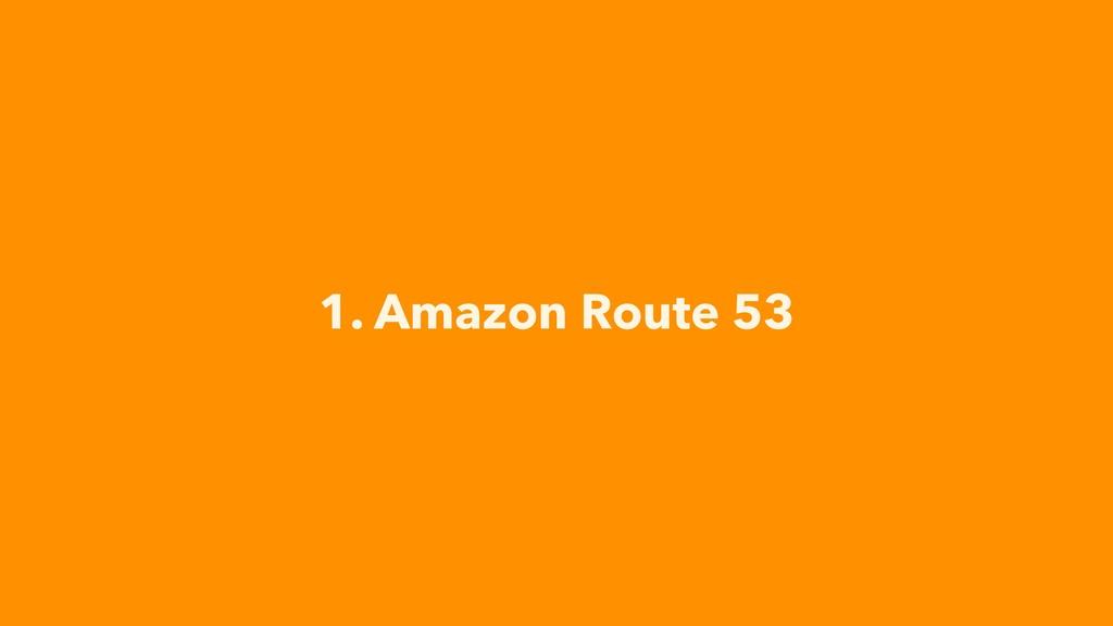 1. Amazon Route 53