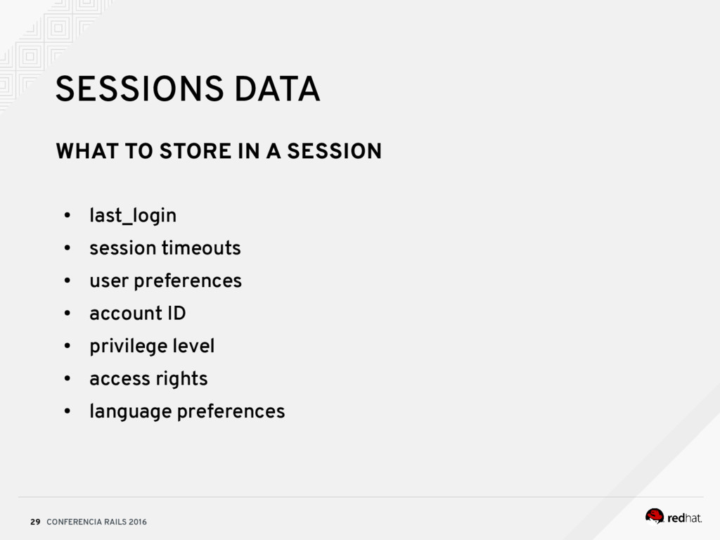 CONFERENCIA RAILS 2016 29 SESSIONS DATA WHAT TO...