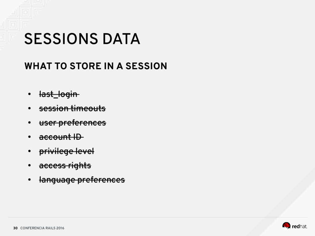 CONFERENCIA RAILS 2016 30 SESSIONS DATA WHAT TO...