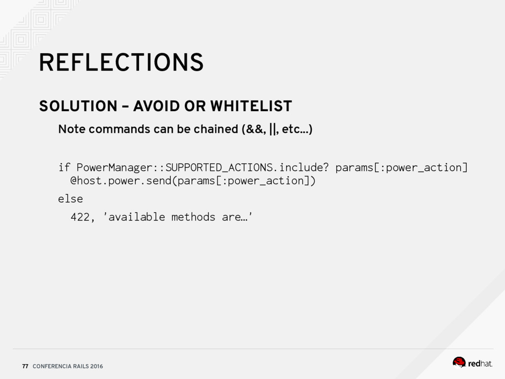 CONFERENCIA RAILS 2016 77 REFLECTIONS SOLUTION ...